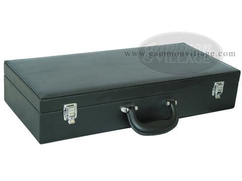 Empty Leatherette Mah Jong Case (fits pushers) - Black