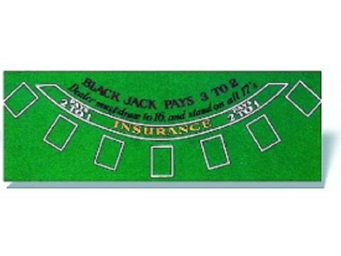Black Jack Table Cover - 72 x 36