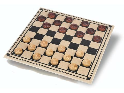 Wood Checkers Set