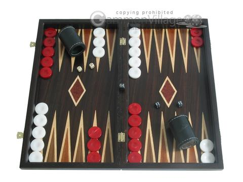 Palisander Backgammon Set with Double Inlays