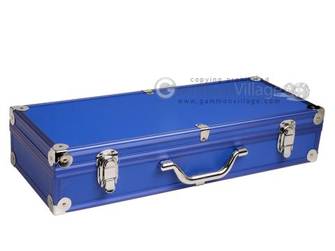 Empty Aluminum Mah Jong Case (not for pushers) - Blue