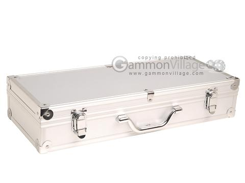 Empty Aluminum Mah Jong Case (not for pushers) - Silver