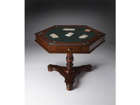 Alexander Plantation Cherry Hexagonal Game Table