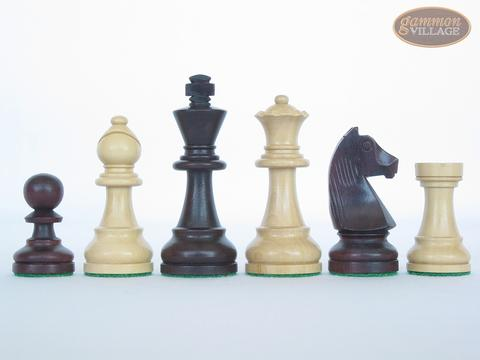 Professional Staunton Maple Chessmen with Italian Lacquered Chess Board [Wood]