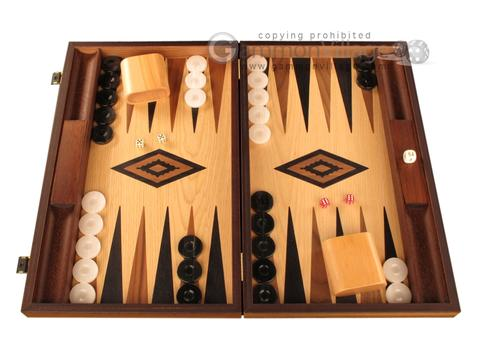 Oak Backgammon Set - Large - Black