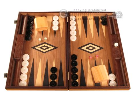 Walnut Backgammon Set - Large - Black
