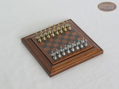 Compact Magnetic Travel Chess Set - Brown