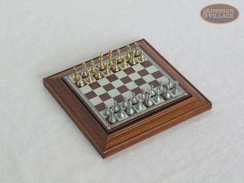 Compact Magnetic Travel Chess Set - White