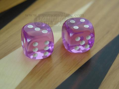 Rounded High Gloss Lucent Dice - Purple (1 dice)