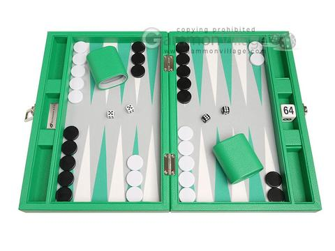13-inch Premium Backgammon Set - Green