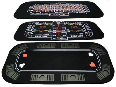 3-In-1 Poker & Casino Folding Table Top