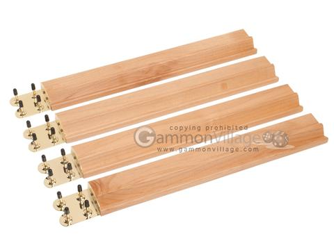 Mah Jong Tile Racks - Wood<br>Oak - Set of 4