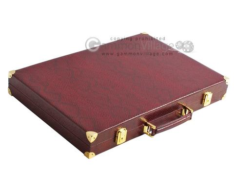 Hector Saxe Faux Snake Backgammon Set - Maroon