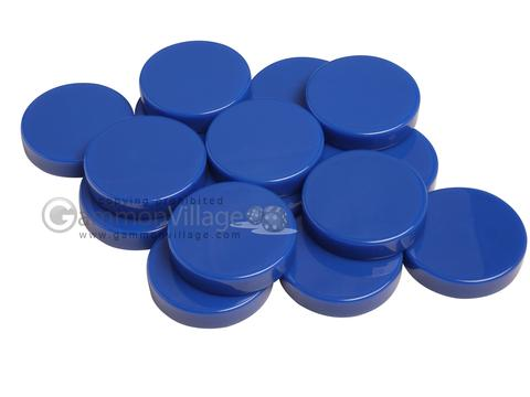 Backgammon Checkers - Opaque - Royal Blue - (1 3/4 in. Dia.) - Roll of 15