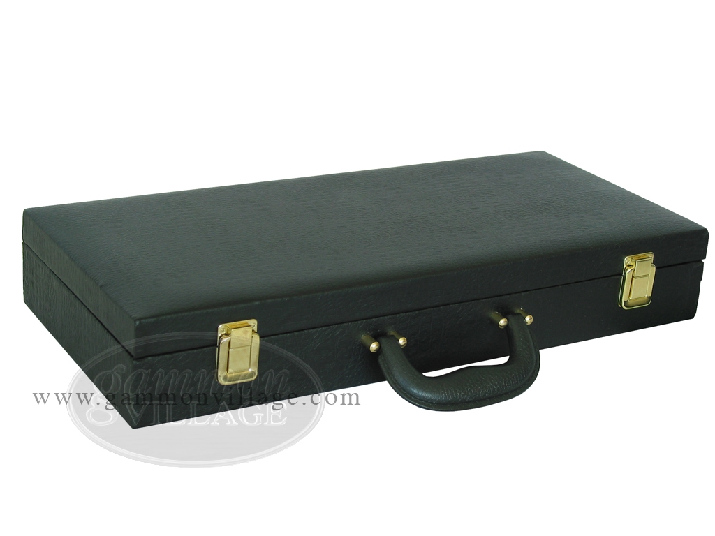 Empty Faux Alligator Mah Jong Case - Matte Black