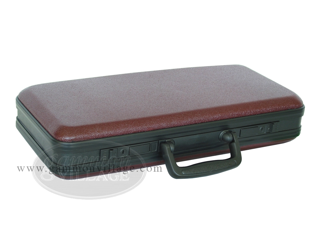 Empty Hard Mah Jong Case (fits pushers) - Burgundy