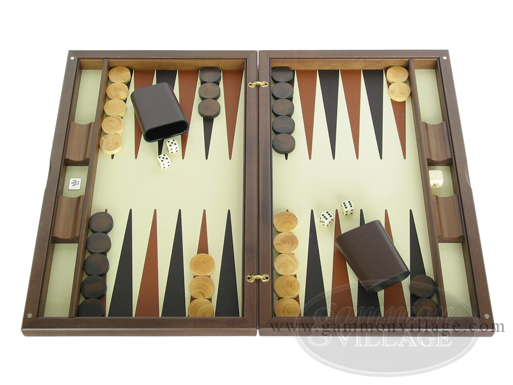 Dal Negro Wood Backgammon Set - Briar Root