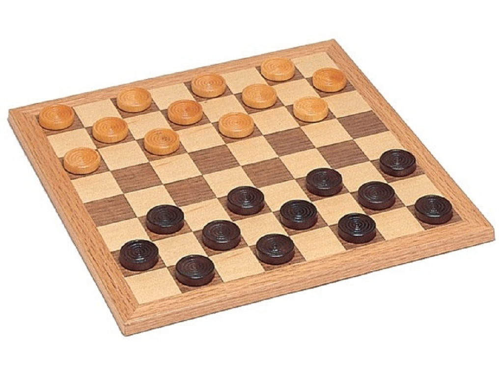Walnut Checkers Set Miscellaneous Games Board Games