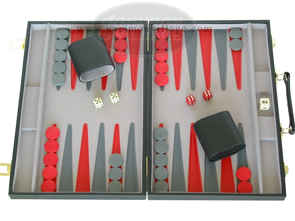15-inch Backgammon Set - Black