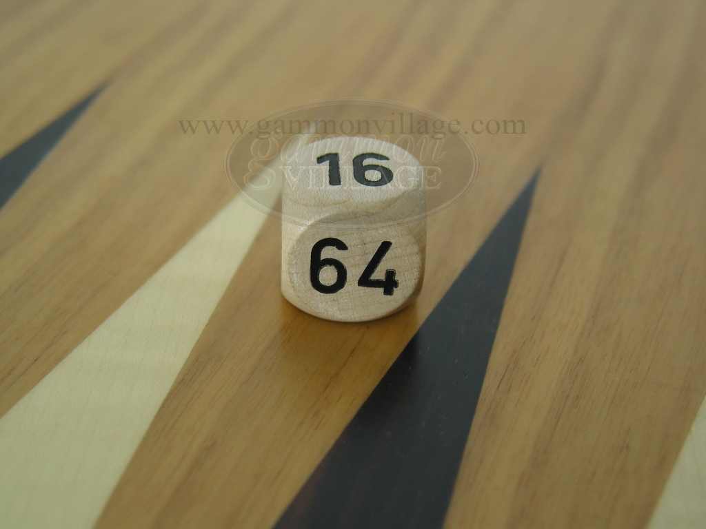 3/4 in. Backgammon Doubling Cube - White Wood