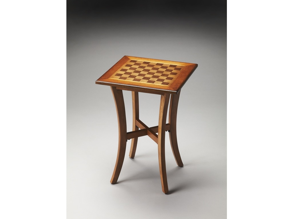 Maxwell Olive Ash Burl Chess Table
