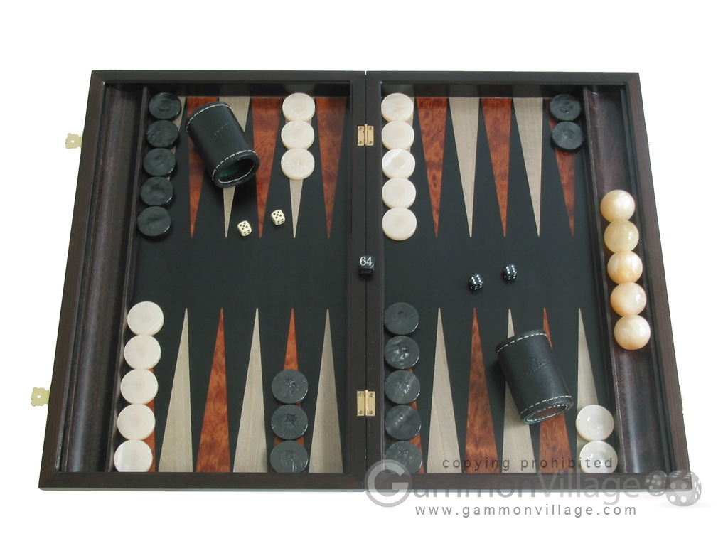 Palisander Backgammon Set with Racks
