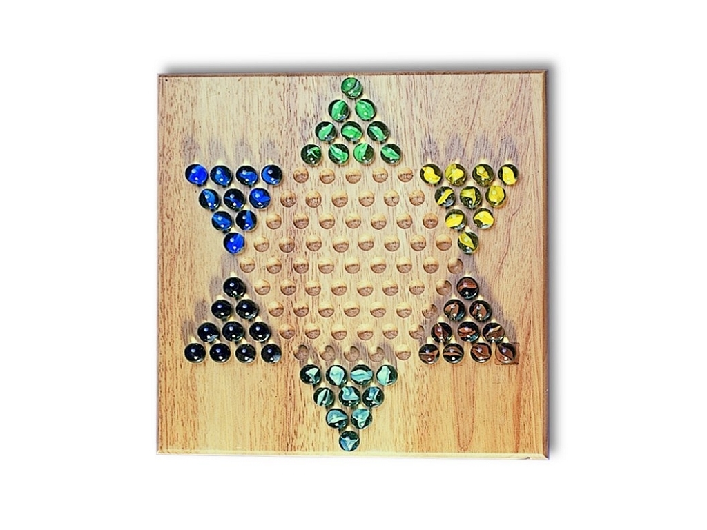 2700 - Chinese Checkers with Glass Marbles