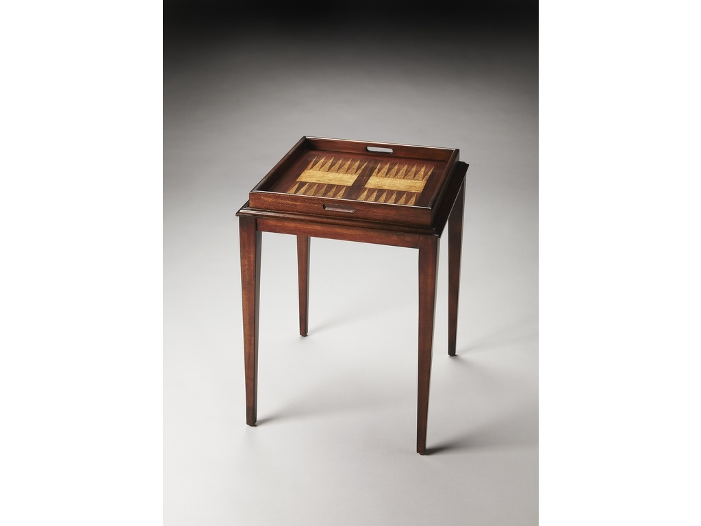 Garrett Plantation Cherry  Chess/Checkers and Backgammon Game Table
