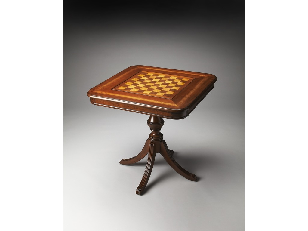 Morphy Antique Cherry  Chess/Checkers and Backgammon Game Table