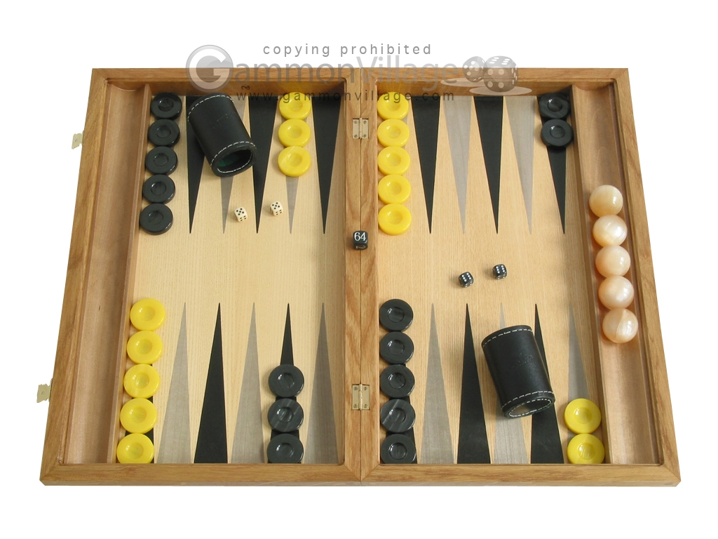 Oak Backgammon Set with Racks