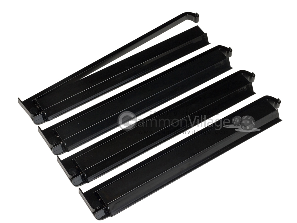 Modern Pushers - Rack & Pusher Combined - Acrylic - Black Opaque - Set of 4