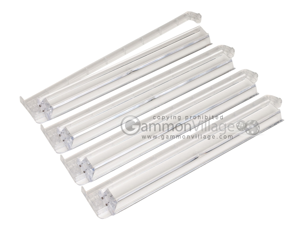 Modern Pushers - Rack & Pusher Combined - Acrylic - Clear - Set of 4
