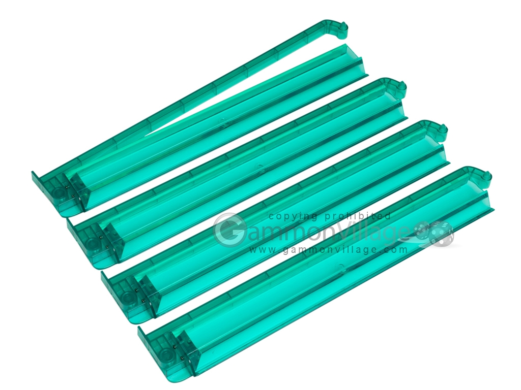 Modern Pushers - Rack & Pusher Combined - Acrylic - Light Green Clear - Set of 4