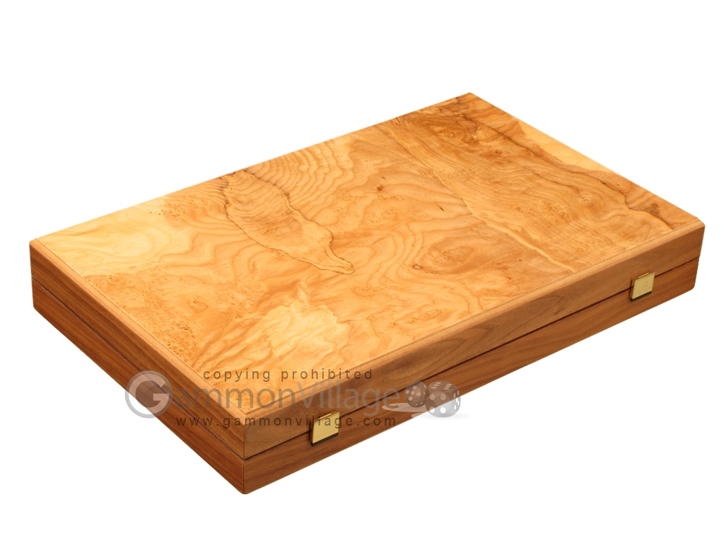 Olive Root Backgammon Set - Large - Oak Field