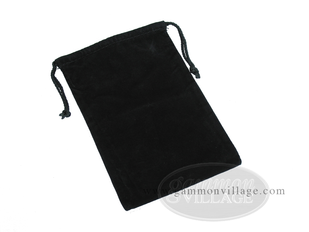Black Felt Dice Bag - (6 in. x 9 in.)