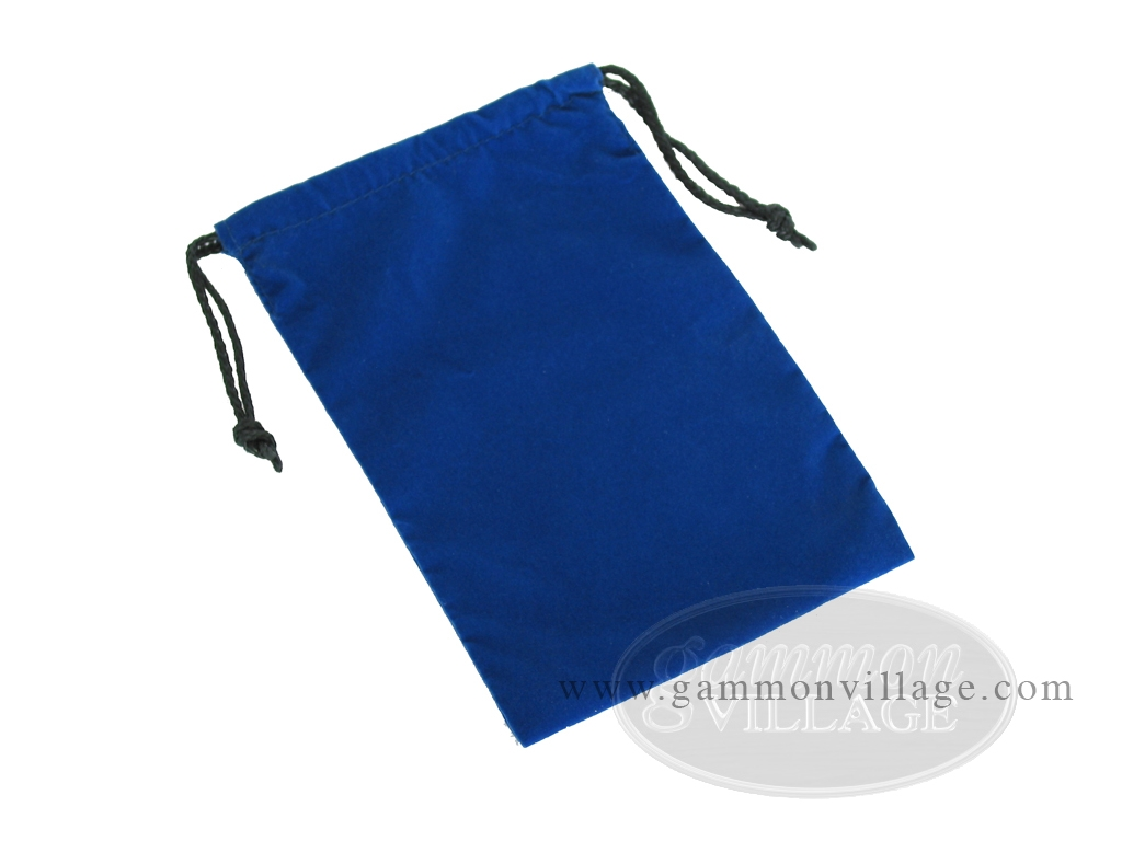 Blue Felt Dice Bag - (6 in. x 9 in.)