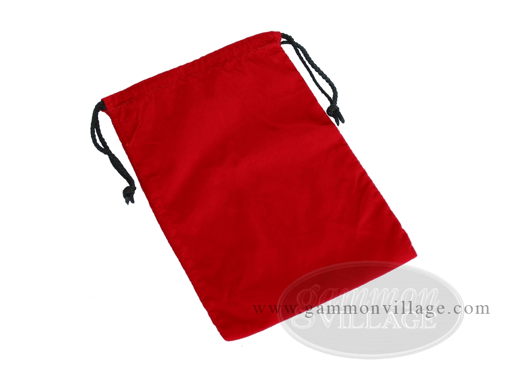 Red Felt Dice Bag - (6 in. x 9 in.)