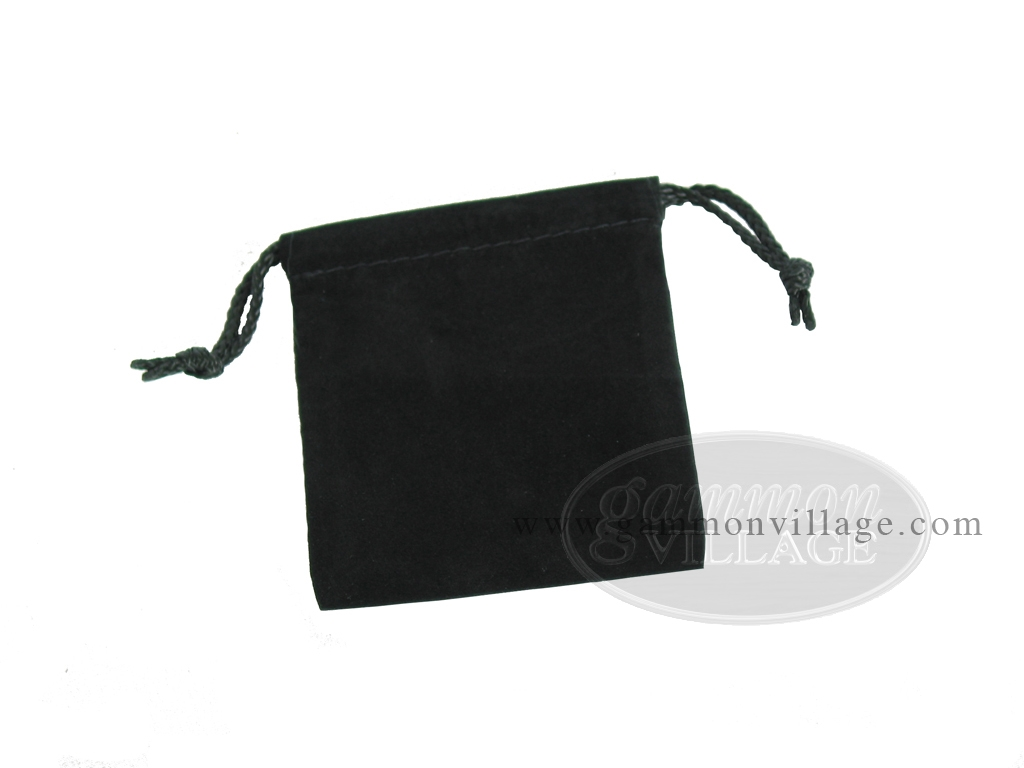 Deluxe Black Felt Dice Bag - (4 in. x 5 in.)