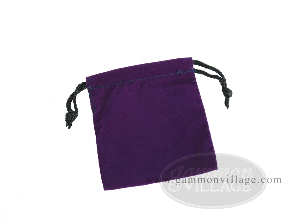Deluxe Purple Felt Dice Bag - (4 in. x 5 in.)