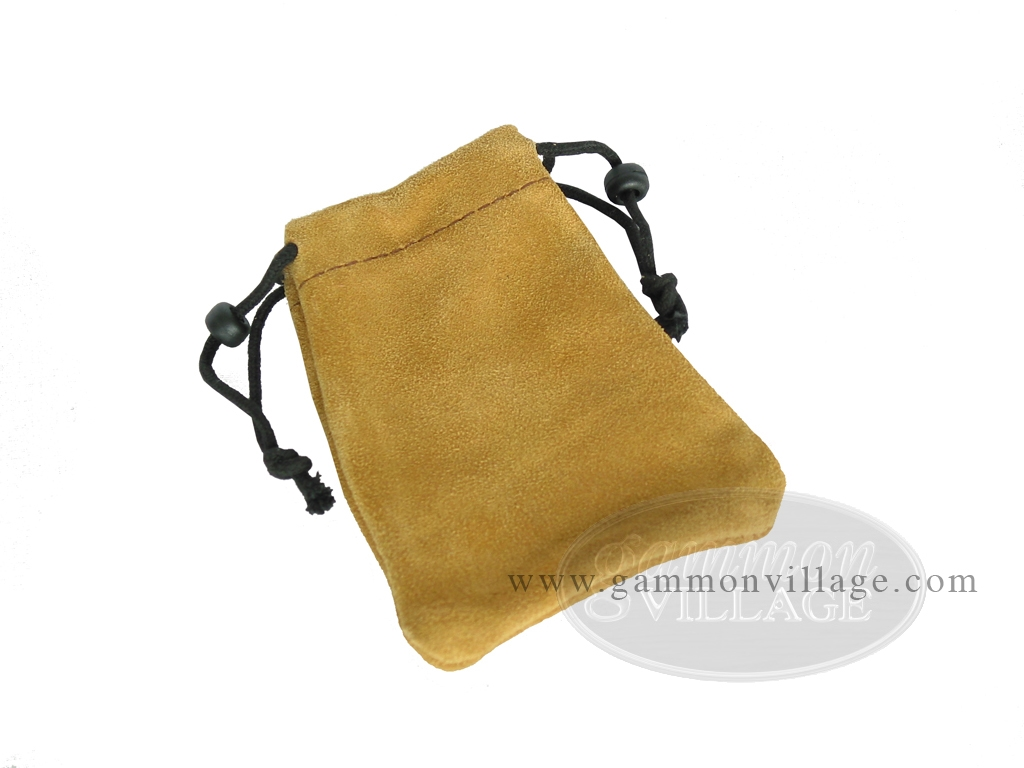 Suede Dice Bag - (4 in. x 6 in.) - Tan