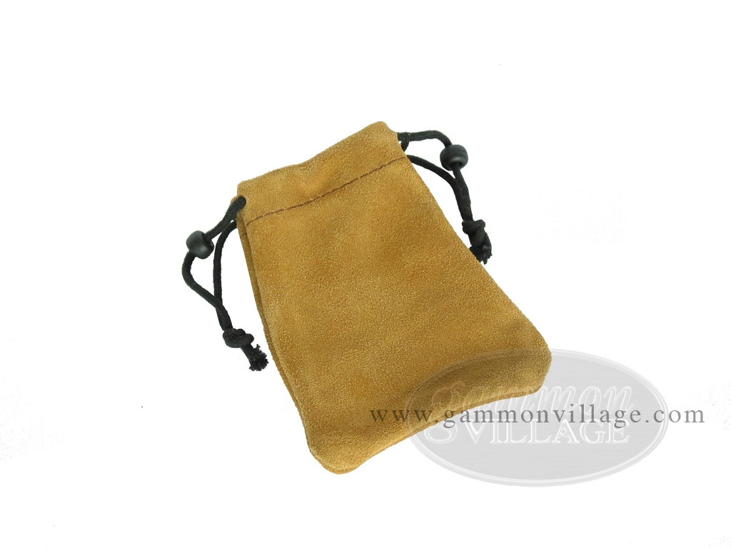 Suede Dice Bag - (3 in. x 4 in.) - Tan
