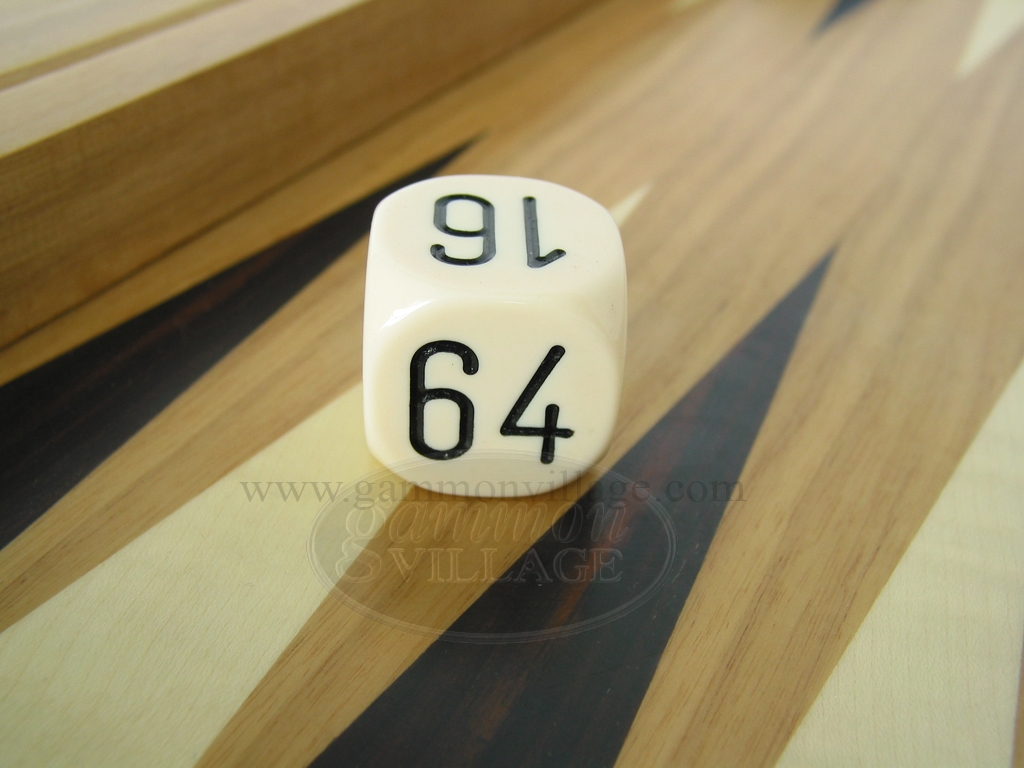 1 3/16 in. Backgammon Doubling Cube - White