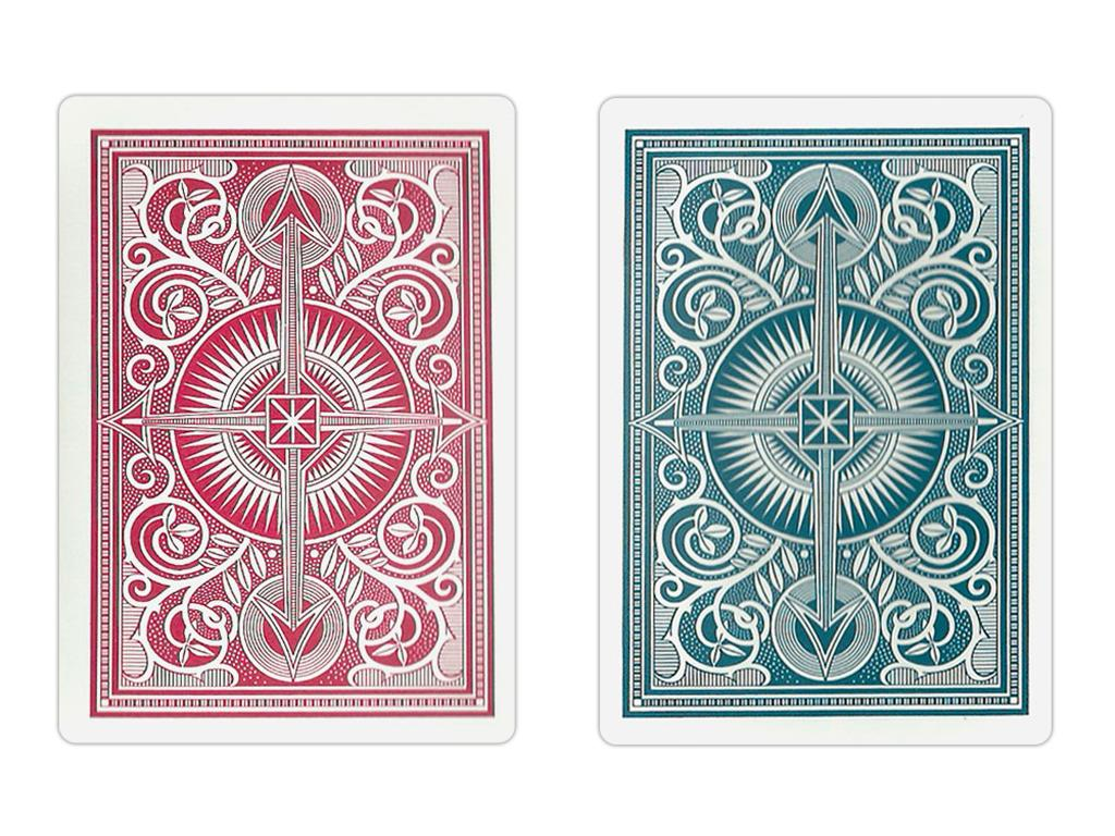 Kem Arrow Red/Blue Narrow Playing Cards - Double Deck