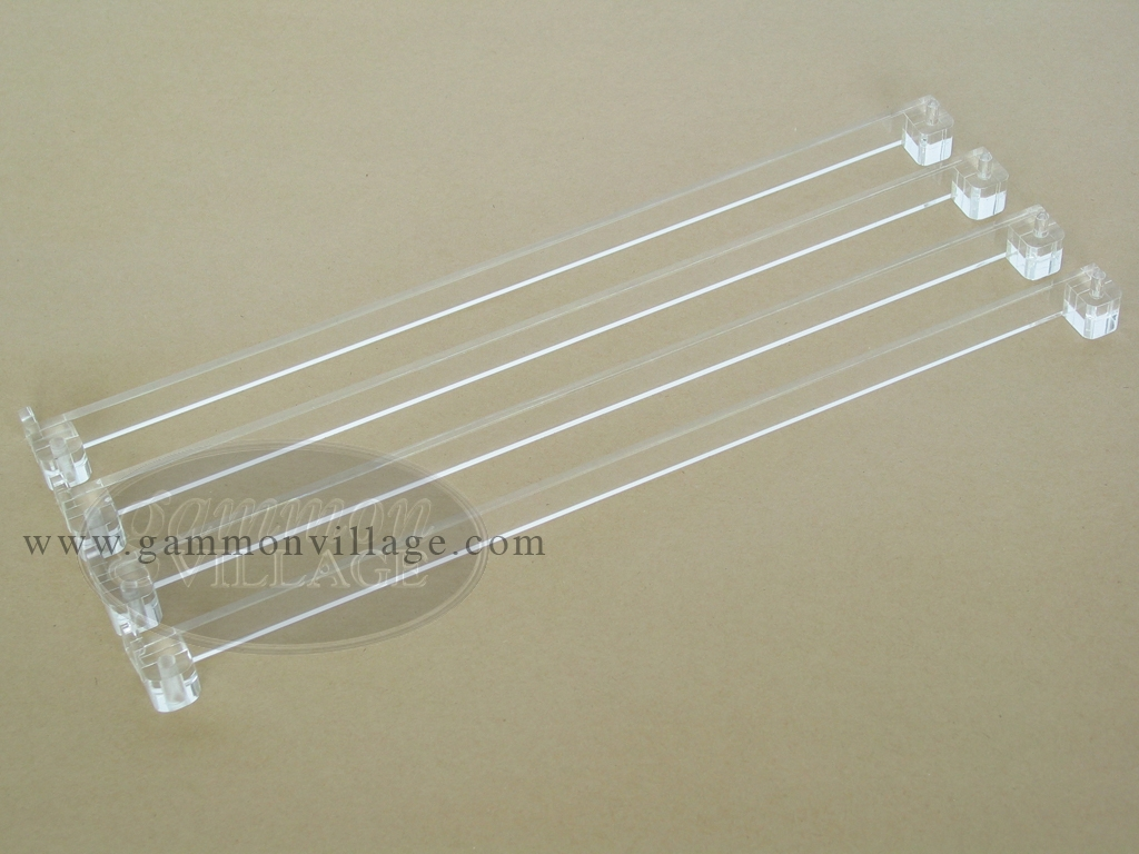 Mah Jong Pushers - Clear Acrylic - Set of 4