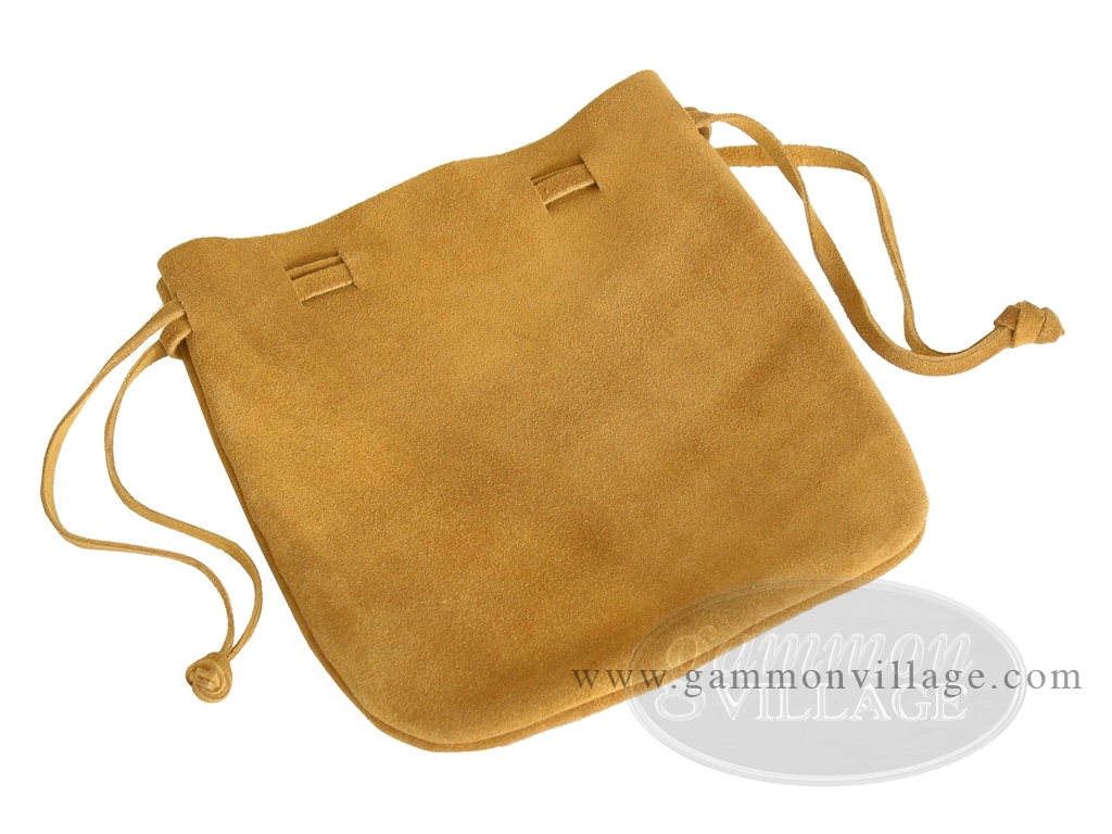 Suede Dice Bag - (7 in. x 8 in.) - Brown