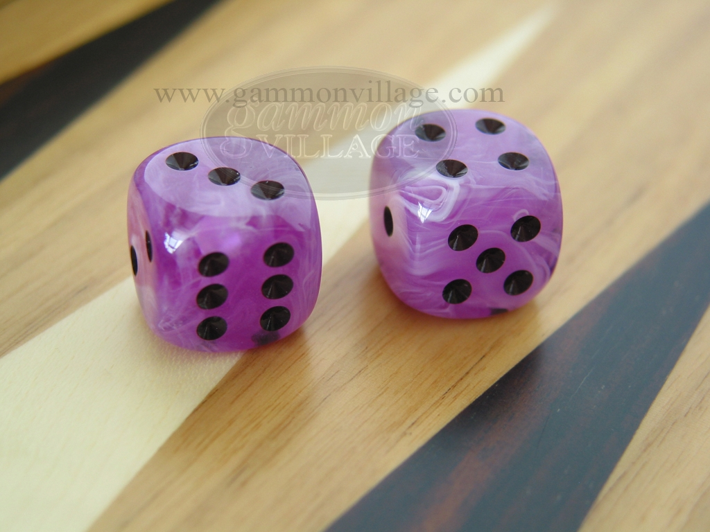 1/2 in. Rounded High Gloss Swoosh Dice - Arctic Purple (1 pair)