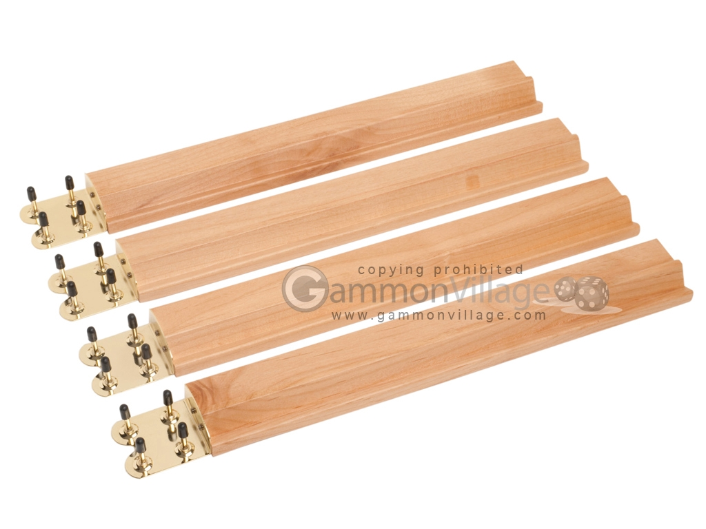 Mah Jong Tile Racks - Wood - Oak - Set of 4