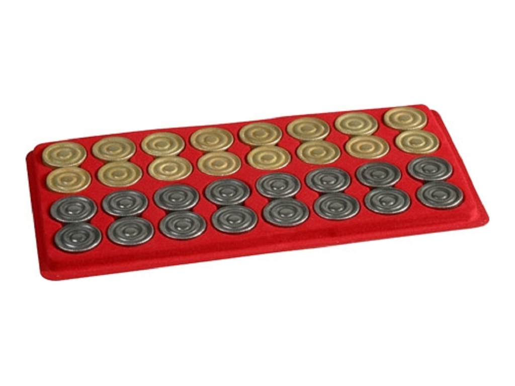 Metal Backgammon Checkers (1 3/16in. Dia.) - Set of 32