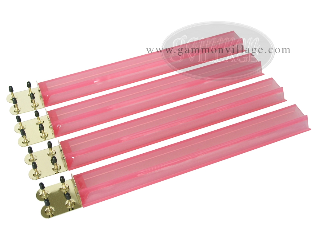 Mah Jong Tile Racks - Acrylic - Pink Clear - Set of 4