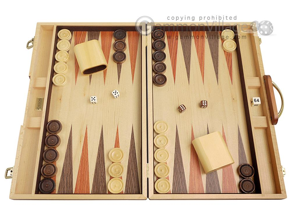 18-inch Wood Backgammon Set - Burlwood